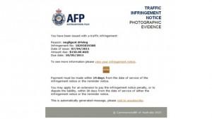 AFP scam letter